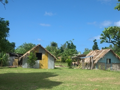 Rustic dwellings on the east side of Efate island