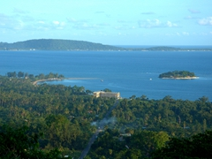 Lookout point over Mele and Hideaway Island Resort