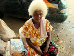 This Ni-Vanuatu woman adopted a serious expression when posing for a photo