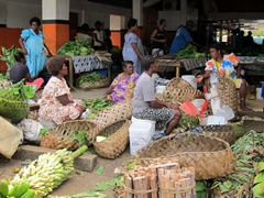 Vendors at the Port Vila market