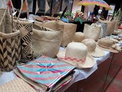 Straw woven souvenirs