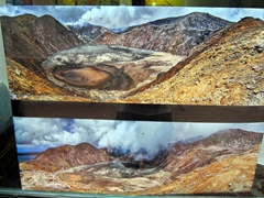 Panorama of volcanoes at the Volcano Museum; Port Vila handicraft center