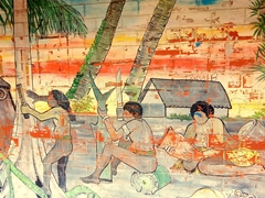 Wall painting at a handicraft market; Port Vila