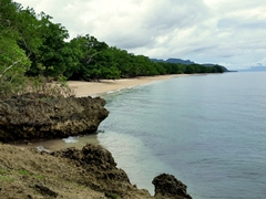 Coastline view of Pentecost Island