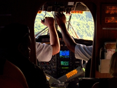 Our pilots prepare to land on Pentecost Island