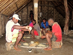 Robby gets invited to partake in a kava ceremony at the male only nakamal (meeting house and kava bar); Waterfall Village