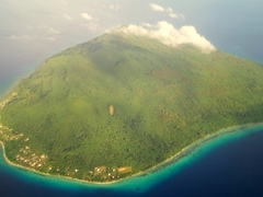 Vanuatu consists of 83 gorgeous islands - here we fly above one of them