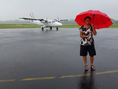 Arriving to a downpour of rain at Luganville's Santo Pekoa airport