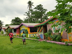 The cheap food shacks in downtown Luganville definitely deserve a quick wander - check out the brightly painted murals done by Santo's school kids