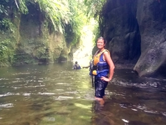 "After 30 minutes of ""canyoning"", we reach the best part of the tour - a float down the Sarakata River"