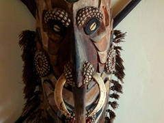 Papua New Guinea mask on display at Allan Power's house