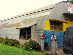 Quonset hut built with materials taken from Million Dollar Point - a common sight in Luganville