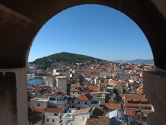 View of Split from the top of St Domnius' bell tower
