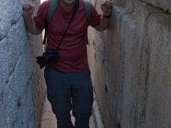 "Robby at ""Pusti me da prodjem"" or ""let me pass, please"" street, Split's narrowest"