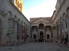 Sunset view of the Peristyle (central square of Diocletian's Palace)