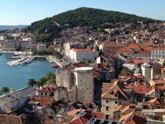 View of Split's waterfront (with Marjan Hill in the background)