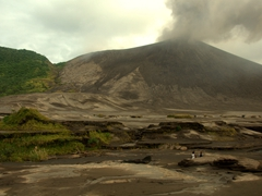 Mt Yasur belching in the distance