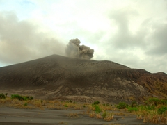 Another view of Mt Yasur as we drive towards the visitors' center