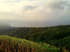 View of Tanna's east coast as we drive to Mt Yasur volcano