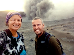 Selfie at Mt Yasur volcano
