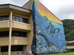 "Wyland Mural by marine artist Wyland who has painted over 100 ""whaling walls"" around the world"