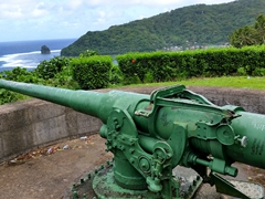 Another view of Blunt's Point - a gun station erected to protect Pago Pago's harbor against Japanese invasion during WWII