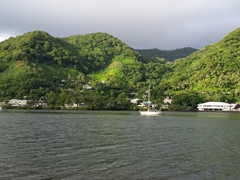Pago's picturesque harbor