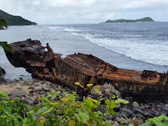 Shipwreck near the village of Auasi