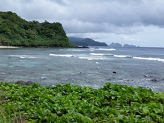 Rugged coastline on Tutuila's southeast coast