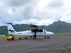Our Polynesian Airlines plane for the short hop back over to Apia (a 30 minute flight but we lost a full day as we crossed over the international date line)