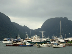 Fishing boats in Pago Pago Harbor
