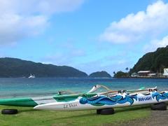 Outrigger canoe; Pago Pago harbor