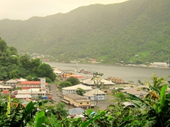 View as we hike out of the jungle and descend into Pago Pago at the end of the WWII Heritage Trail hike