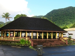 Meeting houses - a common sight in American Samoa