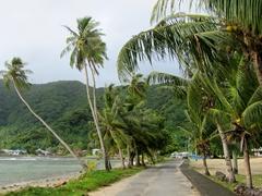 Walking through Vatia village