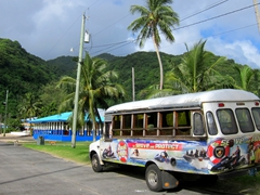 Our local transport to Vatia - a bargain $2 bus ride
