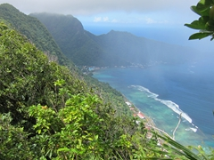 The tough hike is worth is as we near the summit of Mt Alava with views like this!