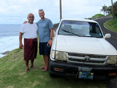 Our awesome tour guide Layanga spent his Sunday afternoon giving us a free tour of Tutuila!