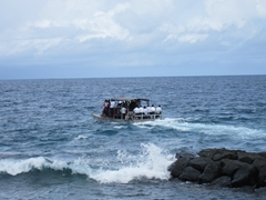 We feared for their safety but the church members were anxious to return to Aunuu Island so the overloaded boat made the perilous journey