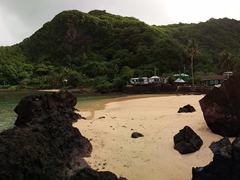 Panoramic view of 2 Dollar Beach