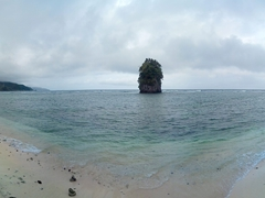 Panoramic view of Flowerpot Rocks