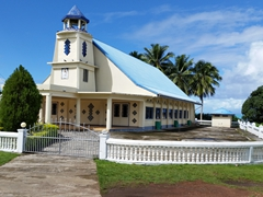 Savai'i is dotted with numerous churches
