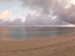 Dusk panorama of Manase Beach