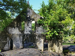LMS Church withstood the lava flow; Saleaula lava field