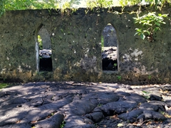 Side view of the church in the lava field