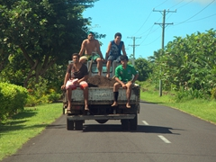 Hitchin' a ride, Samoa style!
