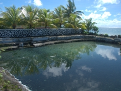 Salt water swimming pools - a common sight on Savai'i