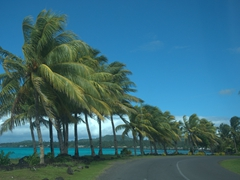 Blessed with beautiful weather on our round the island tour of Savai'i