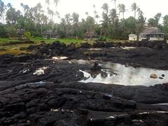 Lava field of Alofaaga blowholes