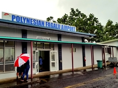 The tiny Fagalii airport - a domestic terminal for Polynesian Airlines